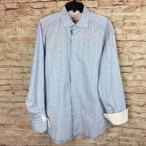 Robert Graham Flip Cuff Dress Shirt XL